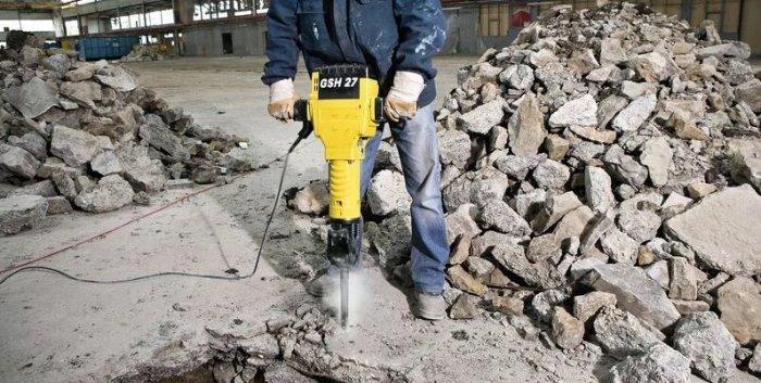 разбивка бетона отбойным молотком